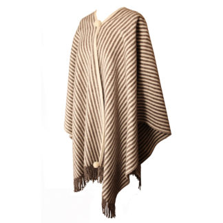 The Horsemans-Wool Poncho-Cream