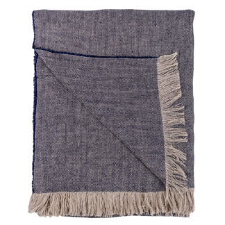 Irish-Linen-Blue-Herringbone-Throw