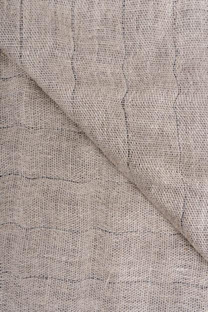 Irish Linen and wool dove grey Throw-Detail