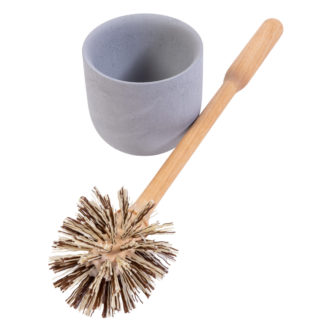 Wood Toilet Brush and Holder