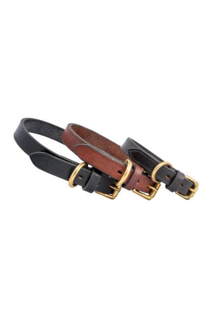 Plain Leather Dog Collars 2