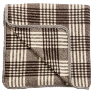 Spanish Wool Blanket Brown Check