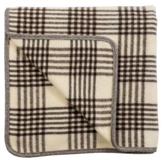 Spanish Wool Blanket Cream Check