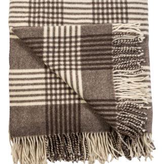 Spanish Wool Manta Blanket Checked