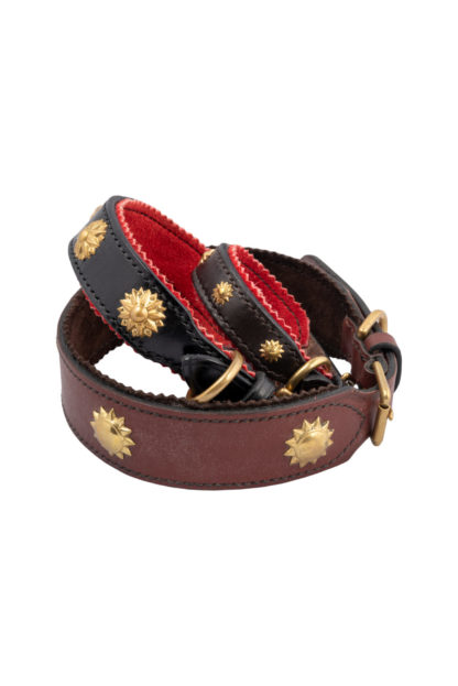 Leather Studded Dog Collars