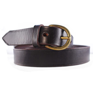 The-English-Dark-Old-Brown-Leather-Belt