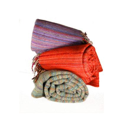 Welsh Wool Striped Blankets