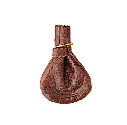 Russian Reindeer Leather Pouch Purse