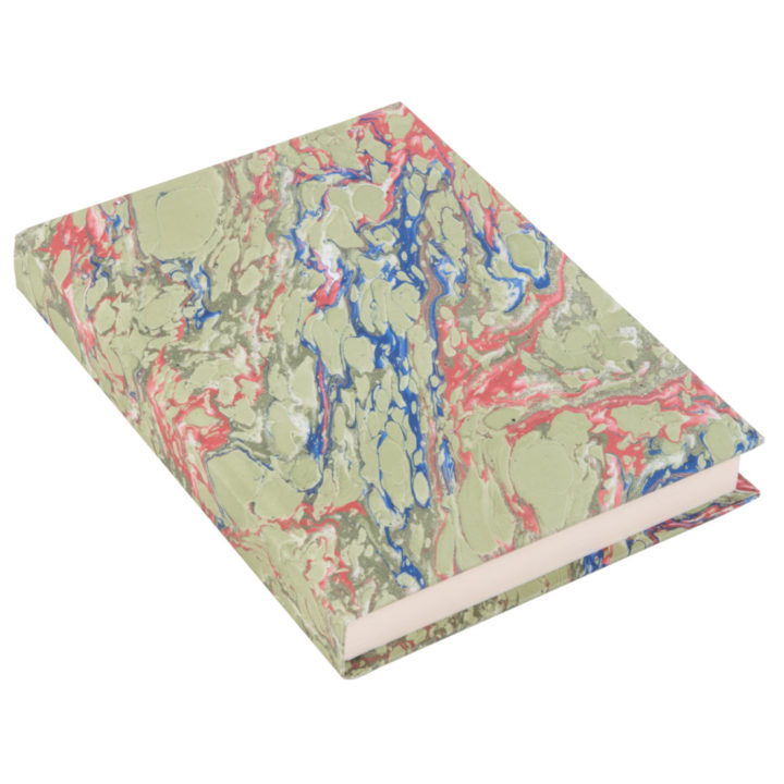 Hand Marbled Green Notebook