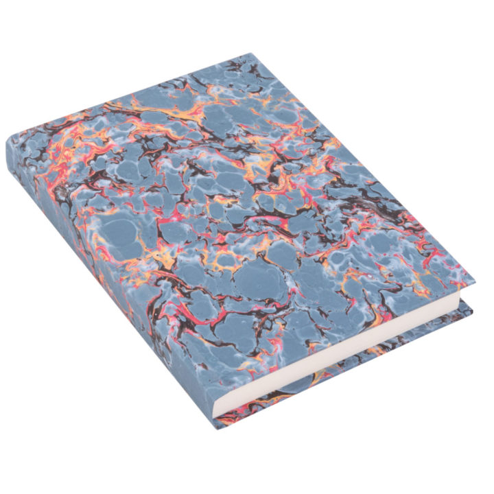 Hand Marbled Blue Notebook