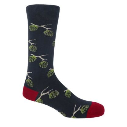 Woodland-Socks-Navy-Blue-And-Red 2