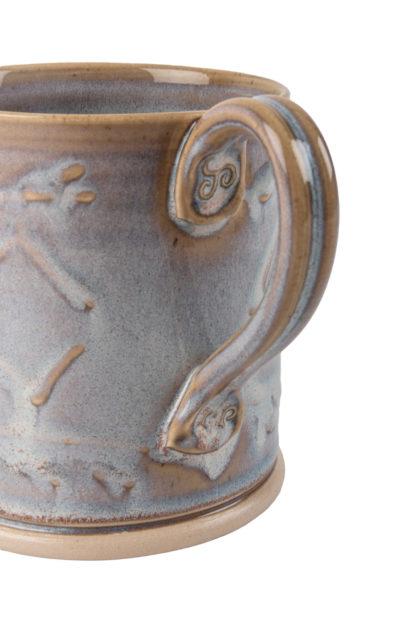 The Aran-Stitch-Pottery Mug-Detail of Handle