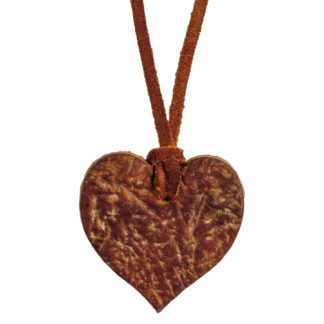 Russian Reindeer Leather Heart Pendant