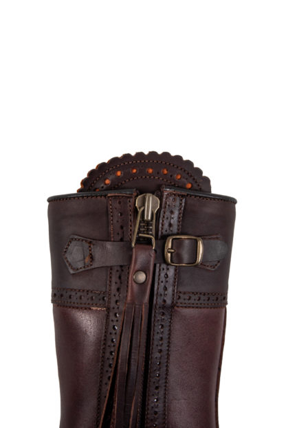Spanish Leather Riding Boots Detail
