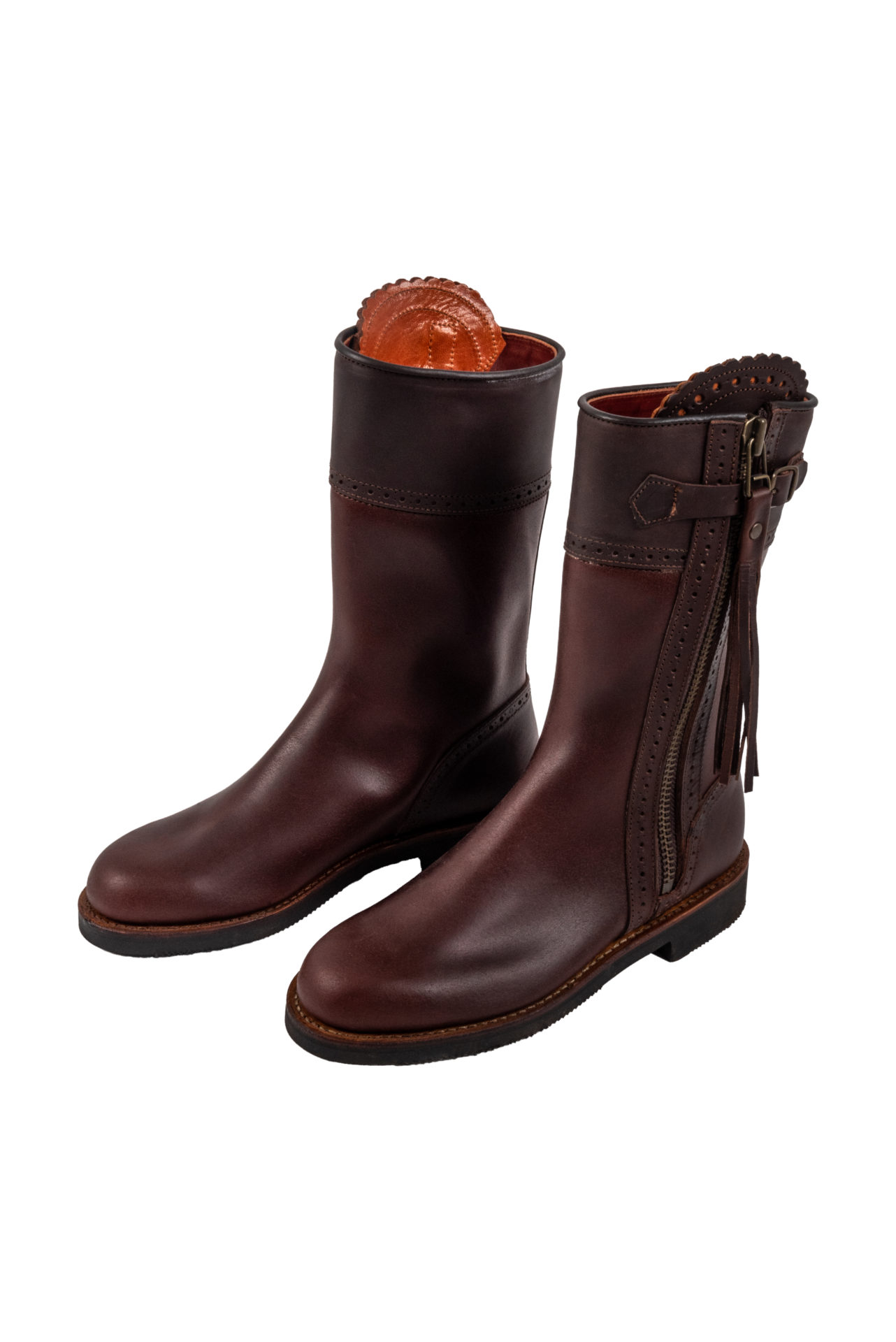 Spanish Leather Riding Boots - Short