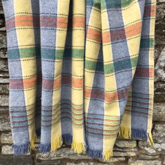 Old Welsh Blanket, Fringed Throw FT85