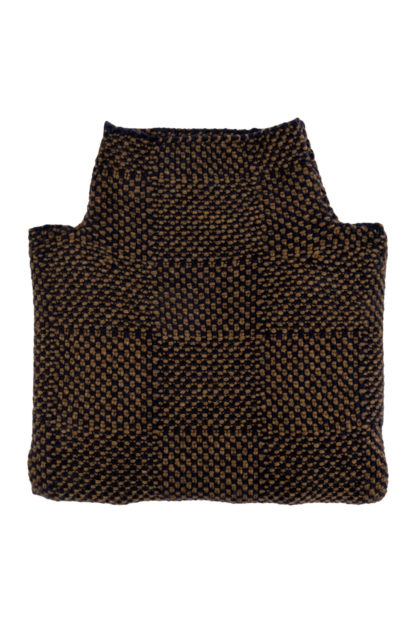 Womens Olive and Navy Blue Wool Jumper