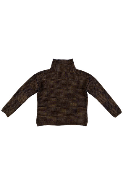Womens Olive and Navy Blue Wool Jumper Flat
