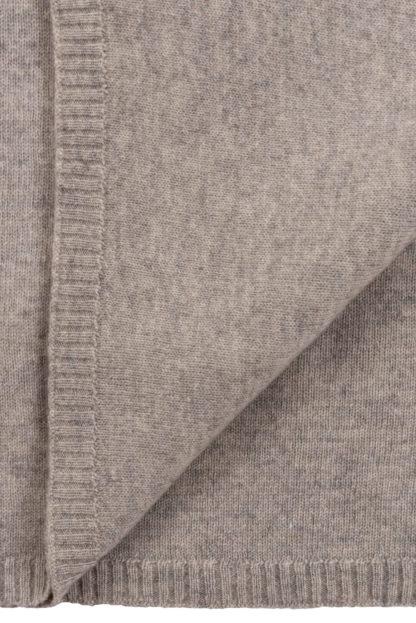 Beige Cashmere Baby Blanket Detail