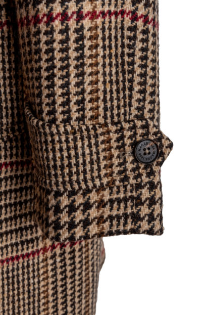 The Erne Mens Tweed Coat Detail of Cuff