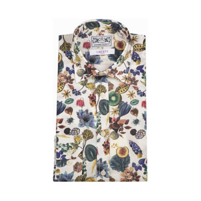 Mens Liberty Cotton Shirt - Floral Earth