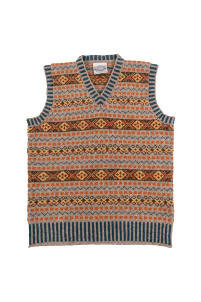 Prince of Wales Fair Isle Tank Top