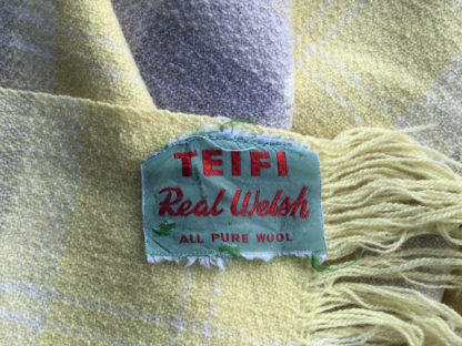 Vintage Fringed Throw FT88 Detail Label