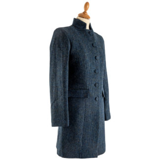 The Lucy Womens Harris Tweed Wool Coat Front