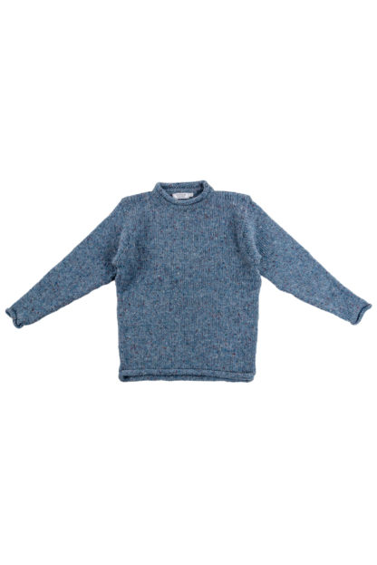 Womens Pale Blue Donegal Jumper