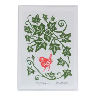 Ivy Robin Christmas Card