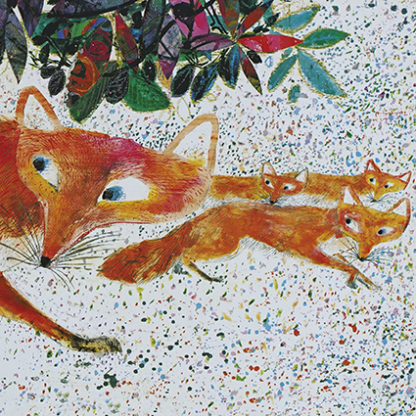 Foxes Greeting Card by Brian Wildsmith