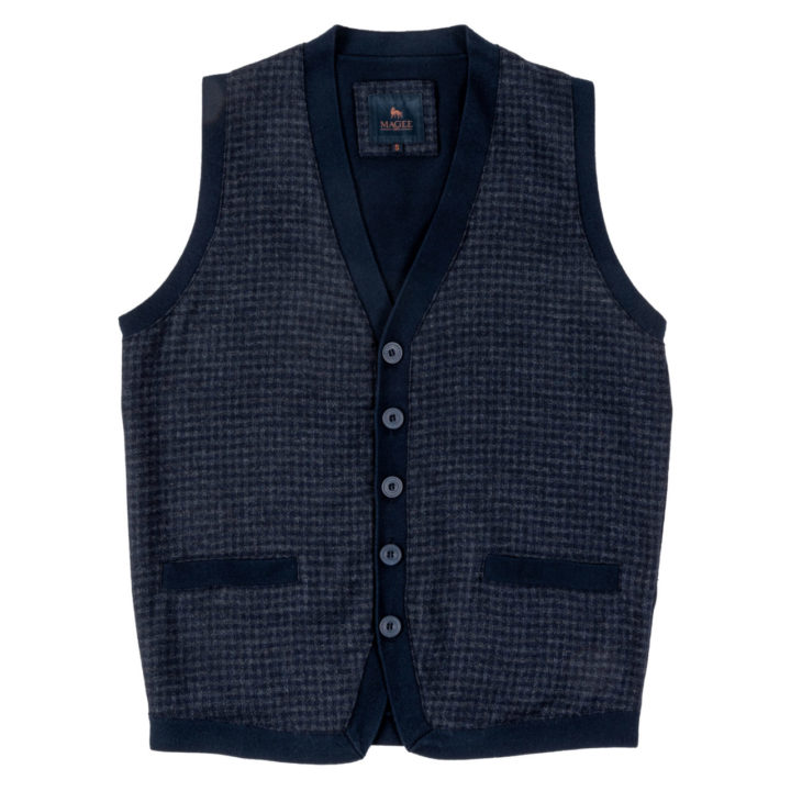 The Darney Mans Knitted Waistcoat Front