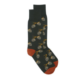 Woodland-Socks-Grey and Terracotta