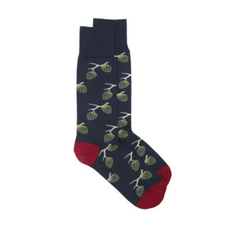 Woodland Socks Navy Blue and Red