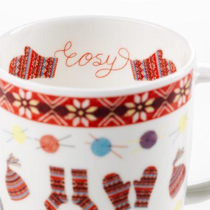 Fair Isle China mug detail