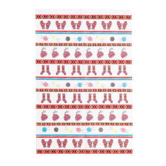 Fair Isle cotton tea towel