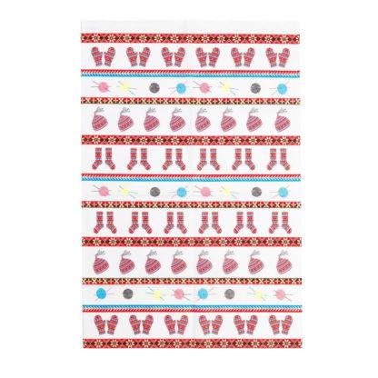 Fair Isle cotton tea towel
