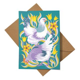 Hens Greeting Card