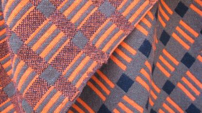 Old Welsh Blanket, Antique Tapestry AT87 Detail