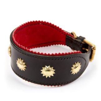 Leather Studded Sighthound Collar 2