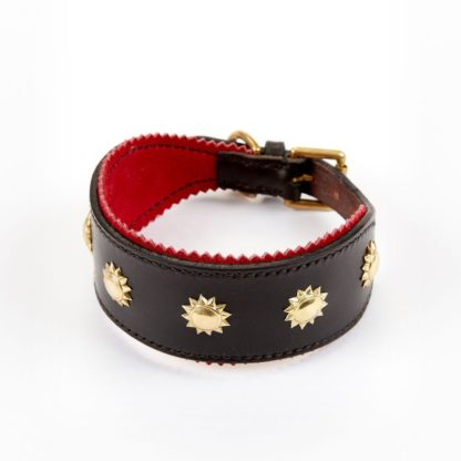 Leather Studded Sighthound Collar