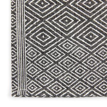 Linen Cloth Tea Towel Black Detail