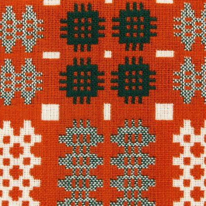 New Orange Red Welsh Tapestry Detail 2