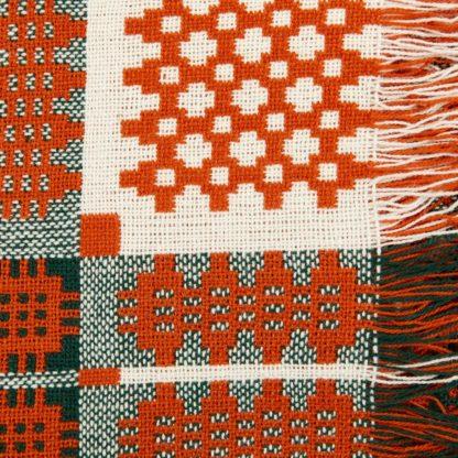 New Orange Red Welsh Tapestry Detail 3