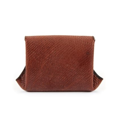 The Leather Penny Purse Back View