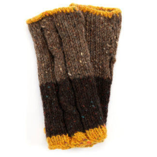 The Donegal Wool Mittens - Nut Brown
