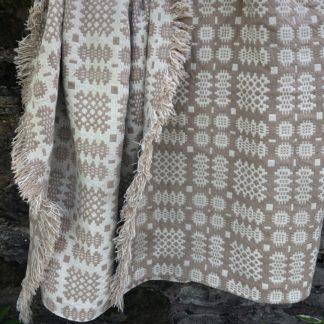 Old Welsh Blanket Antique Tapestry AT136