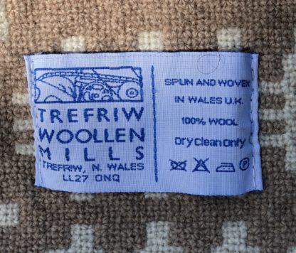 Old Welsh Blanket Antique Tapestry AT136 Label