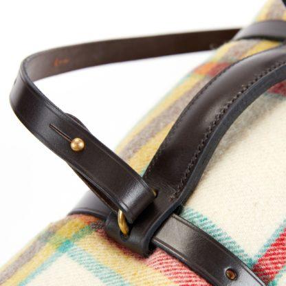 Leather Blanket Straps Detail
