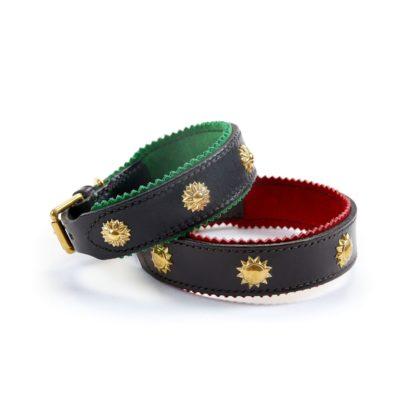 Leather Studded Dog Collars